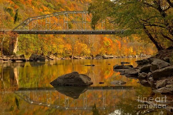 Photograph - Fayette Station Bridge Reflections by Adam Jewell