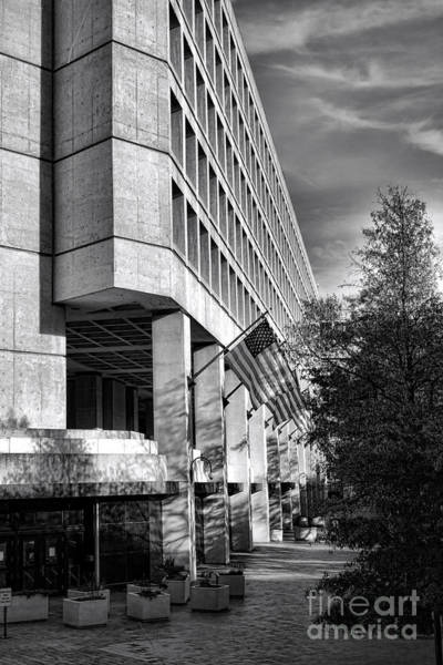Law Enforcement Photograph - Fbi Building Modern Fortress by Olivier Le Queinec