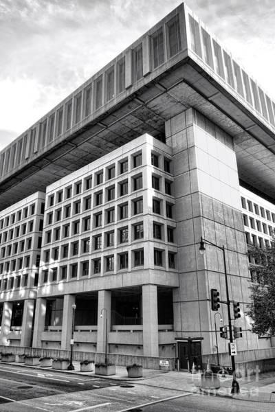 Law Enforcement Photograph - Fbi Building Rear View by Olivier Le Queinec