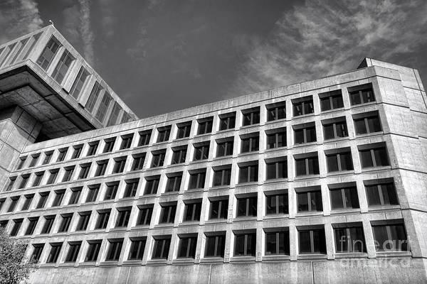 Law Enforcement Photograph - Fbi Building Side View by Olivier Le Queinec
