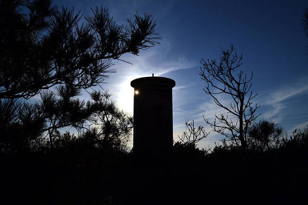 Photograph - Fct1 Fire Control Tower 1 In Silhouette by Bill Swartwout Photography