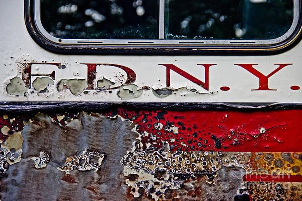 Wall Art - Photograph - F D N Y Fire Truck  by Tom Gari Gallery-Three-Photography