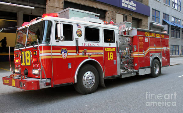 Photograph - Fdny Squad 18 by Steven Spak