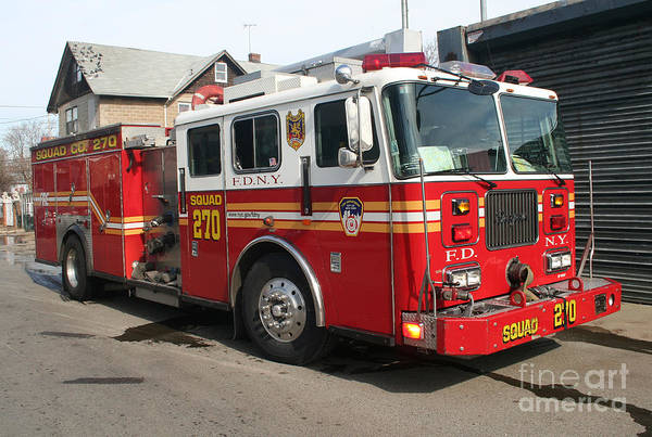 Photograph - Fdny Squad 270 by Steven Spak