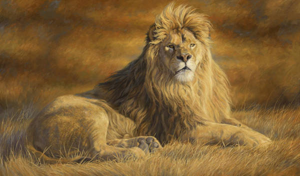 Big Five Painting - Fearless by Lucie Bilodeau