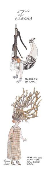 Antlers Drawing - Fears Fear No. 54:  Of Rain by Victoria Roberts
