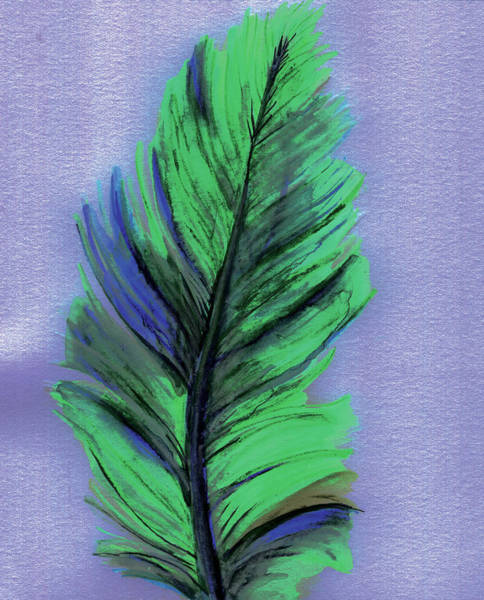 Wall Art - Painting - Feather by Anne Seay