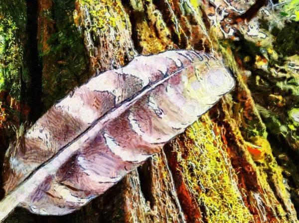 Painting - Feather Tree by Derek Gedney