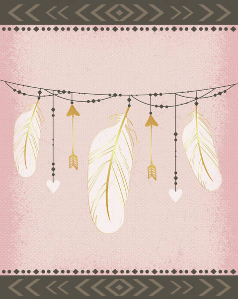 Wall Art - Painting - Feathers by Nd Art & Design