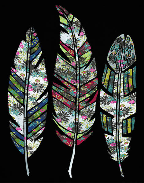 Wall Art - Painting - Feathers by Shanni Welsh