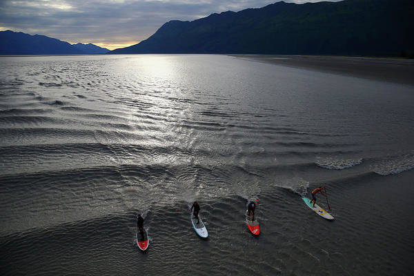 Surfing Photograph - Feature - Bore Tide Surfing In Alaska by Streeter Lecka