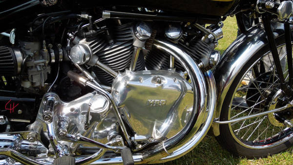 Photograph - Featured Old Veteran Motor Cycle Cycle by Colette V Hera  Guggenheim