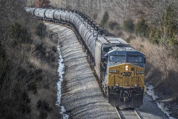 Subdivision Photograph - February 12. 2015 - Csx Engine 542 by Jim Pearson