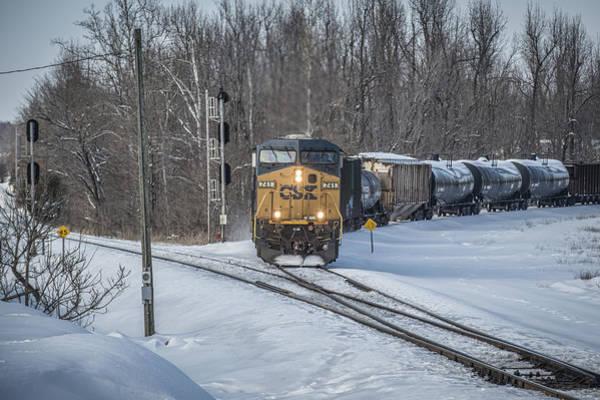 Subdivision Photograph - February 17. 2015 - Csx Q597 by Jim Pearson