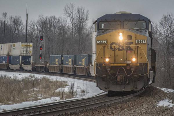 Subdivision Photograph - February 26. 2015 - Csx Q102 by Jim Pearson