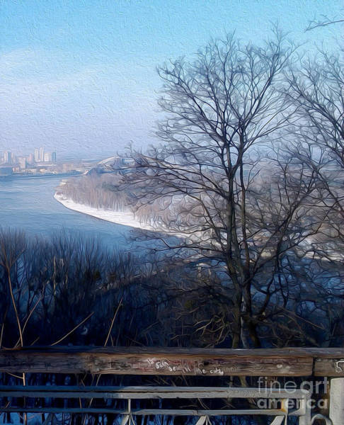Dnieper Photograph - February In Kyiv by Taras Humeniuk