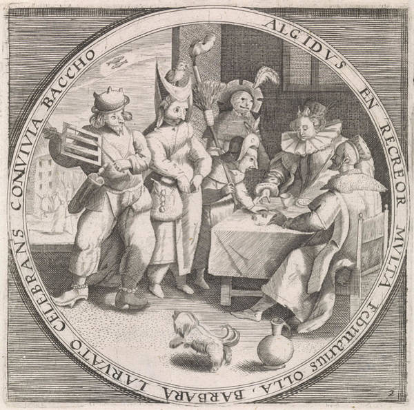 Wall Art - Drawing - February Shrove Tuesday, Print Maker Anonymous by Anonymous And Crispijn Van De Passe I And Maerten De Vos