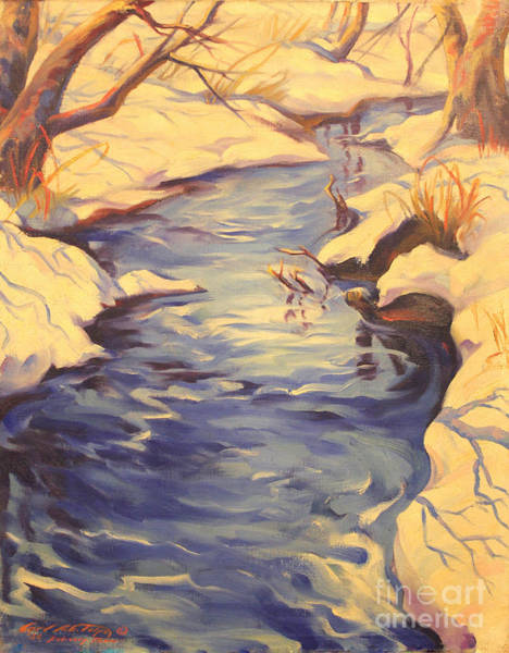 Painting - February Thaw  1936 by Art By Tolpo Collection