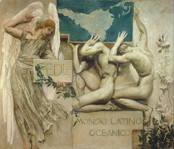 Oceanic Photograph - Fede, Mondo Latino Oceanico, 1904 Oil On Canvas by Giulio Aristide Sartorio