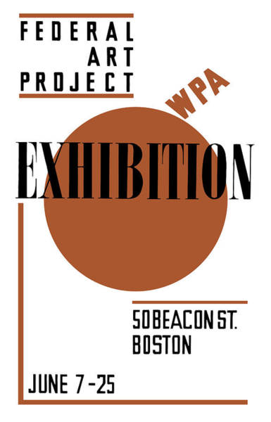 Wall Art - Mixed Media - Federal Art Project Wpa Exhibition  by War Is Hell Store