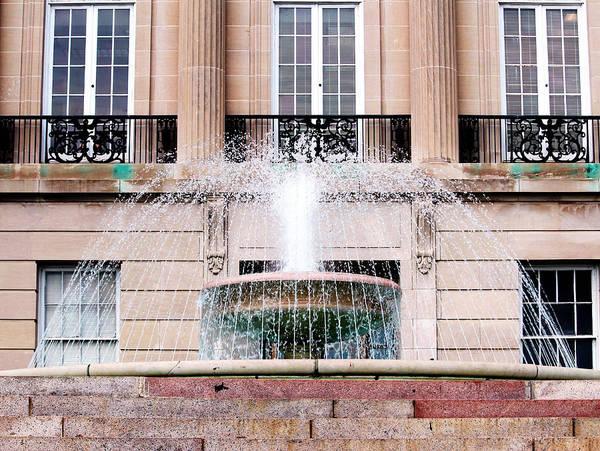 Photograph - Federal Building Fountain by Cynthia Guinn