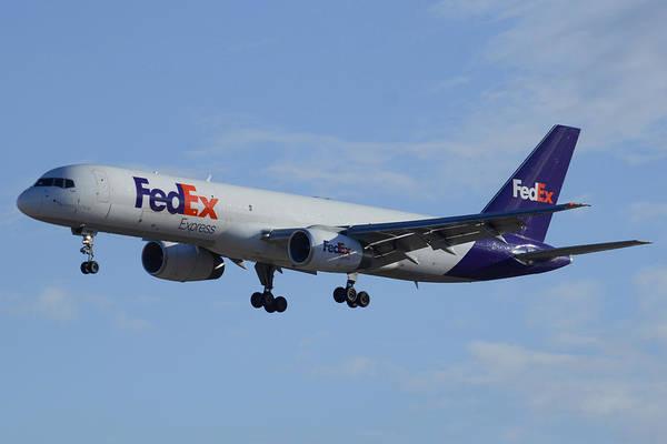 Wall Art - Photograph - Fedex Express Boeing 757-224 N942fd Phoenix Sky Harbor February 24 2015 by Brian Lockett