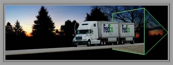 Wall Art - Photograph - Fedex Semi Truck by Thomas Woolworth