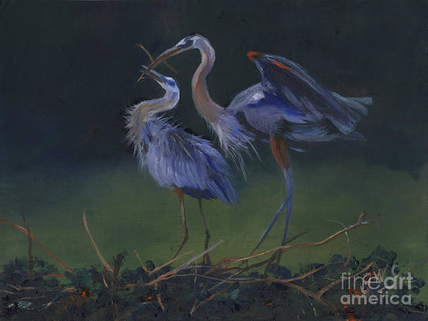 Wall Art - Painting - feeding Time by Gloria Condon