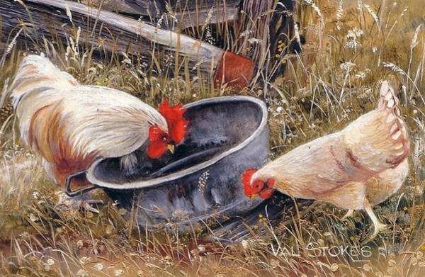 Painting - Feeding Time by Val Stokes