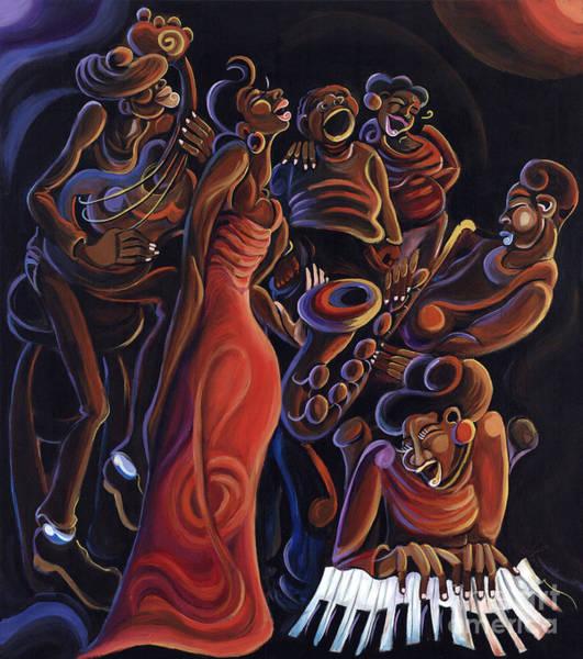 Sax Painting - Feel Good Song  by Sharika  Mahdi