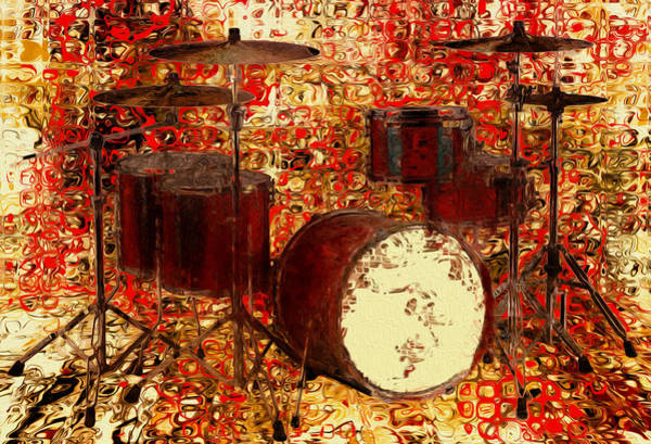 Wall Art - Painting - Feel The Drums by Jack Zulli