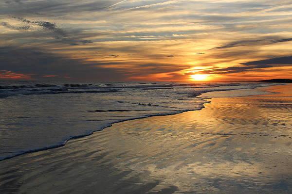 Kiawah Island Photograph - Feel The Winter Coolness Sunset by Rosanne Jordan