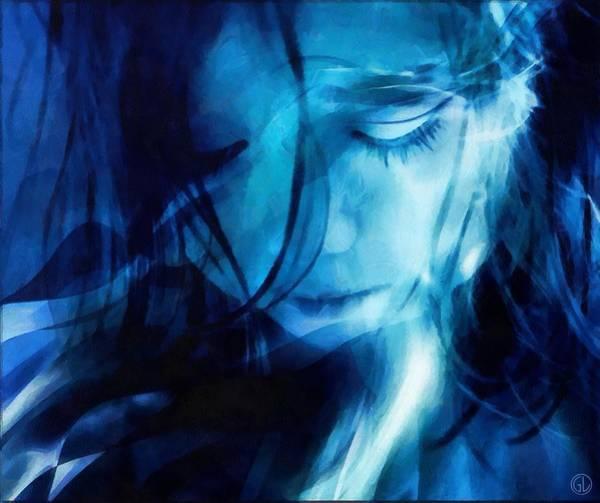 Distortions Digital Art - Feeling A Little Blue by Gun Legler