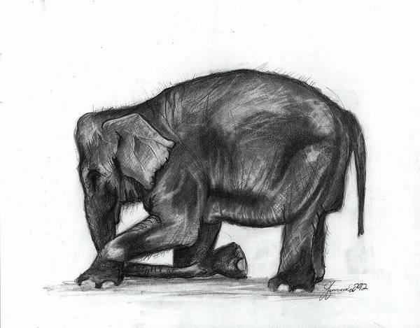 Drawing Wall Art - Drawing - Feeling Gratitude by J Ferwerda