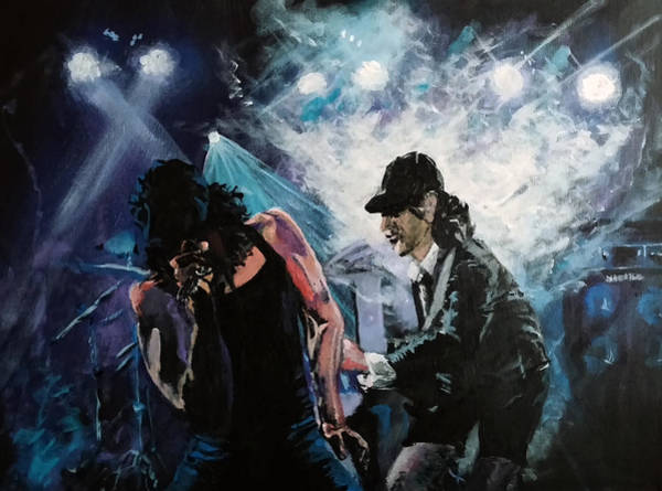 Acdc Painting - Feeling The Big Finish by Morphd Mohawk