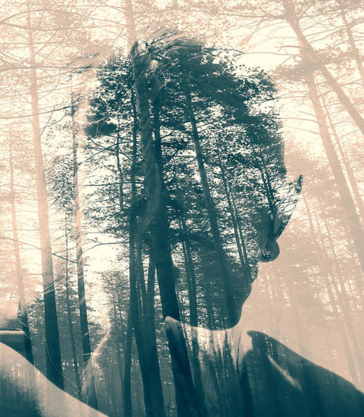 Multiple Exposure Digital Art - Feeling The Forest  by Svetoslav Sokolov