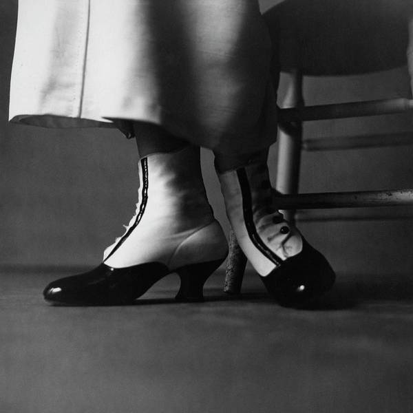 Body Part Photograph - Feet Of A Model Wearing Ankle Boots by Richard Rutledge