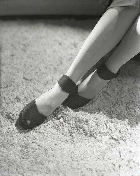 Gloria Photograph - Feet Of Gloria Swanson Wearing Suede Dinner Pumps by Horst P. Horst