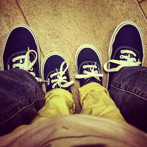 Life Wall Art - Photograph - #feet #shoes #kid #vans #little #people by Luisa Azzolini