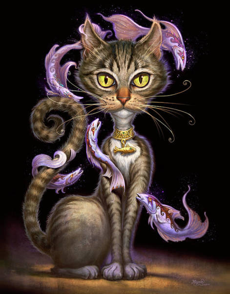 Wall Art - Painting - Feline Fantasy by Jeff Haynie