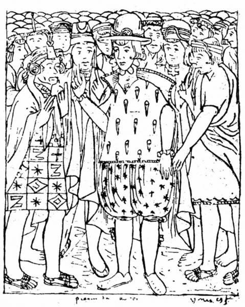 Spanish People Drawing - Felipe Guaman Poma De Ayala by Granger