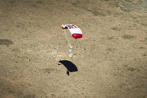 Felix Baumgartner Landing After Freefall Art Print