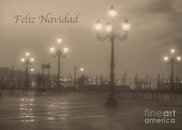 Photograph - Feliz Navidad With Venice Lights by Prints of Italy