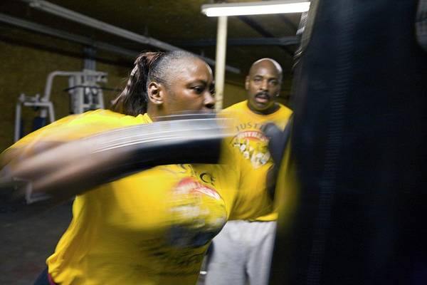 Workout Photograph - Female Boxer Training by Jim West