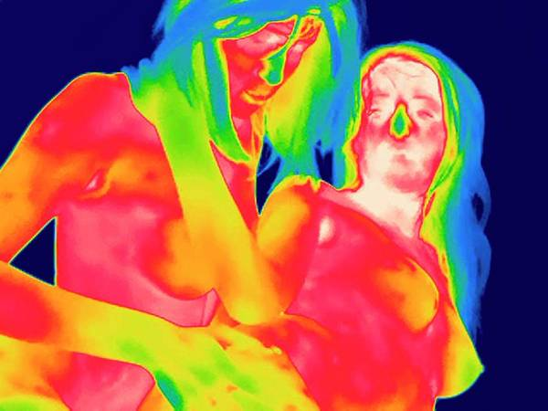 Infrared Radiation Photograph - Female Couple Making Love by Thierry Berrod, Mona Lisa Production