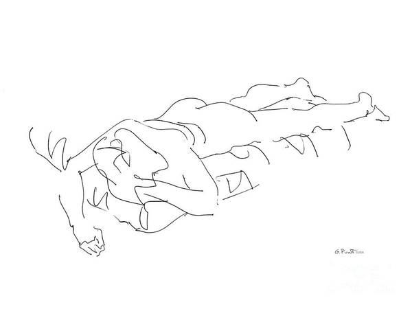 Drawing - Female Erotic Drawings 1 by Gordon Punt