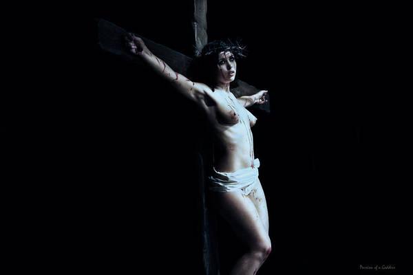 Crucifiction Wall Art - Photograph - Female Jesus II by Ramon Martinez