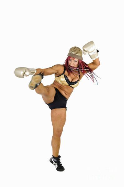 Kickboxing Photograph - Female Kick Boxer 2 by Ilan Rosen