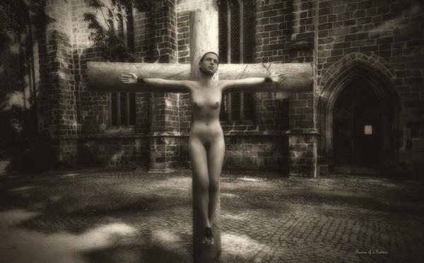 Croce Digital Art - Female Martyr by Ramon Martinez