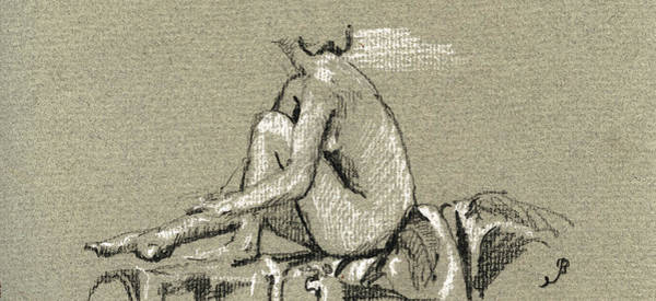 Study Painting - Female Nude Study by Juan  Bosco